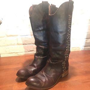Lucchese Spirit Grommet Western Boots, SZ 10